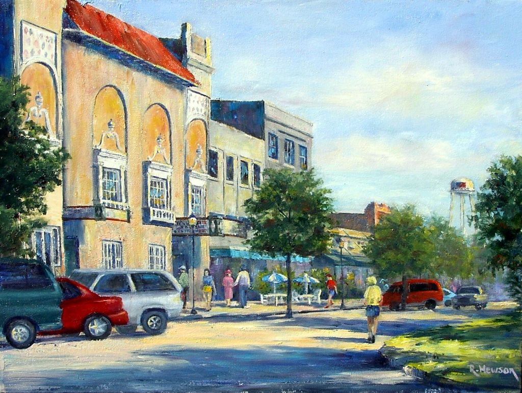 Ruthann Hewson Afternoon Along Flagler (Giclee, Framed, 18x24)
