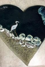 Rare Earth Gallery Heart (Cranes, Flat)