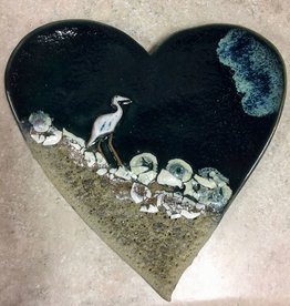 Rare Earth Gallery Heart (Cranes, Flat)