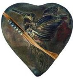 Rare Earth Gallery innerSpirit Rattle: Hummingbird Whisperer (Heart)