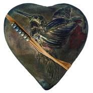 Rare Earth Gallery innerSpirit Rattle: Hummingbird Whisperer (Heart)