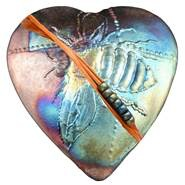 Rare Earth Gallery innerSpirit Rattle: Bumble Bee (Heart)