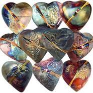 Rare Earth Gallery innerSpirit Rattle: Butterfly (Heart)