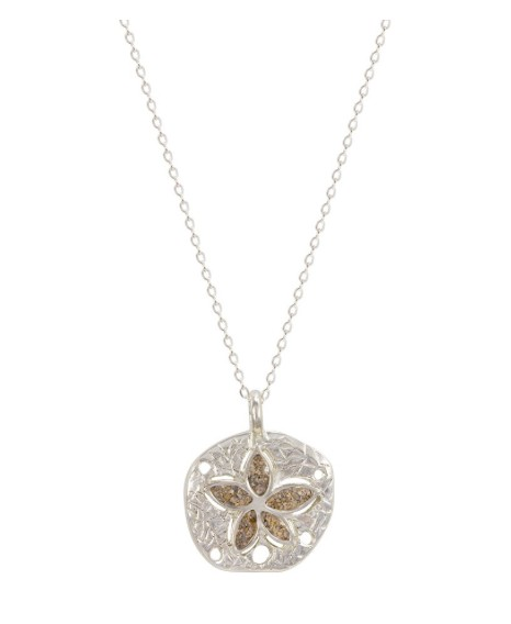 Rare Earth Gallery Necklace, Natural Sand Dollar (Petite)
