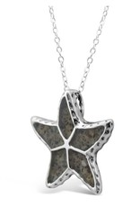 Rare Earth Gallery Necklace, Starfish (Textured)