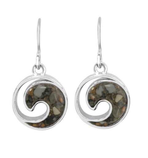 Rare Earth Gallery Earrings, Sterling Wave