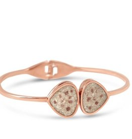 Rare Earth Gallery Bangle, Teardrop, Rose Gold