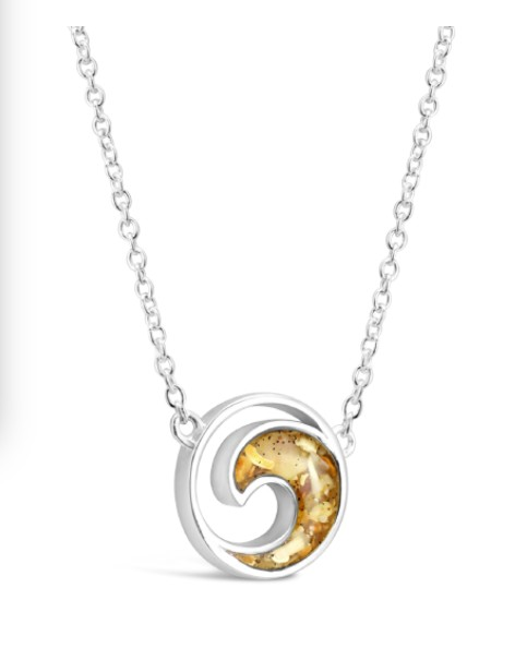 Rare Earth Gallery Necklace, Sterling Wave (Stationary)
