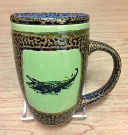 Rare Earth Gallery Alligator Mug w/Lid