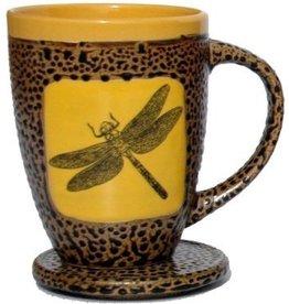 Rare Earth Gallery Dragonfly Mug w/Lid