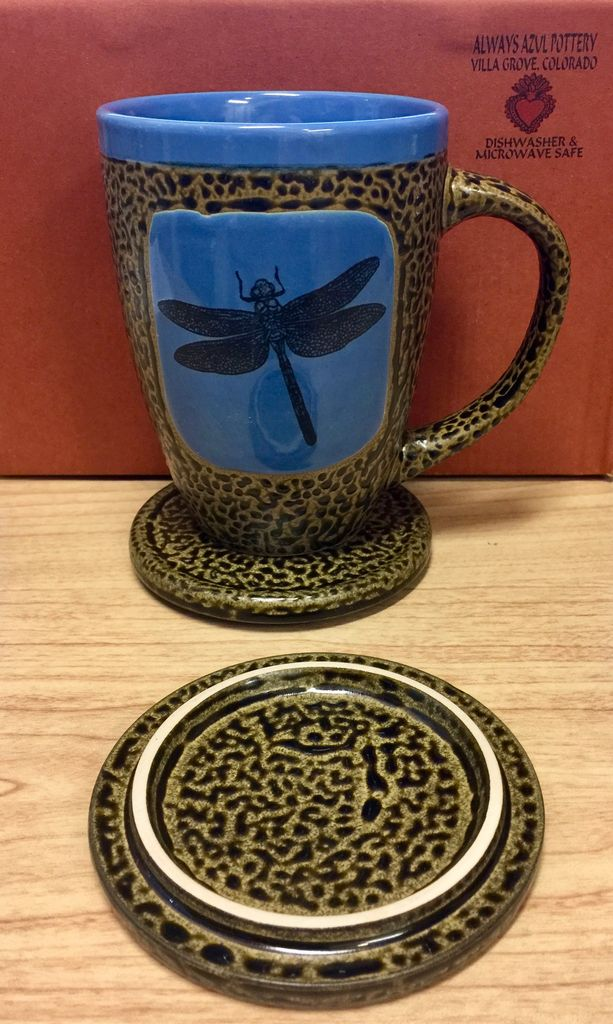 Rare Earth Gallery Dragonfly Mug w/Lid