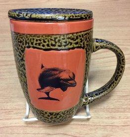 Rare Earth Gallery Dolphin Mug w/Lid
