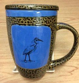 Rare Earth Gallery Egret Mug w/Lid