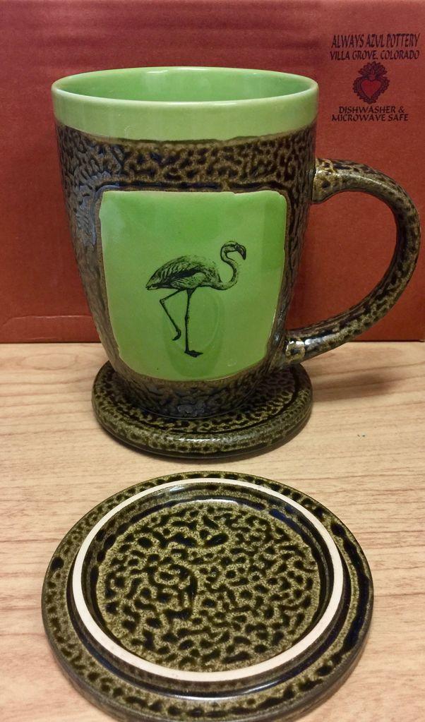 Rare Earth Gallery Flamingo Mug w/Lid