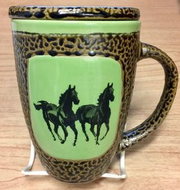 Rare Earth Gallery Horse (Double) Mug w/Lid
