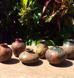 "Rare Earth Gallery Vase (Assorted Designs,  4.5""H x 4""D.)"