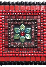 Rare Earth Gallery Red w/Flower Jewelry Box