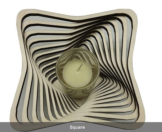 "Rare Earth Gallery Votive, SQUARE (5.5""D x 2.75""H)"
