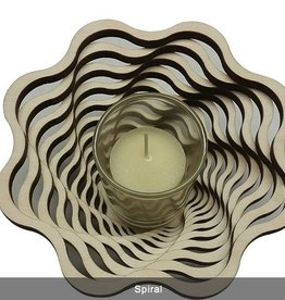 "Rare Earth Gallery VOTIVE, SPIRAL (5.5""D x 2.5""H)"