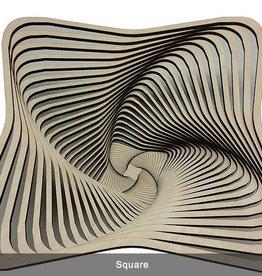 "Rare Earth Gallery Bowl, SQUARE (9""D x 3.5""H)"