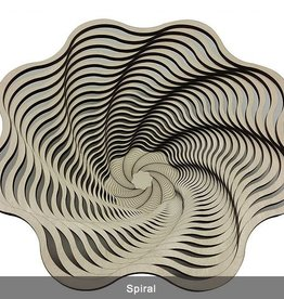 "Rare Earth Gallery Bowl, SPIRAL (9""D x 3.5""H)"