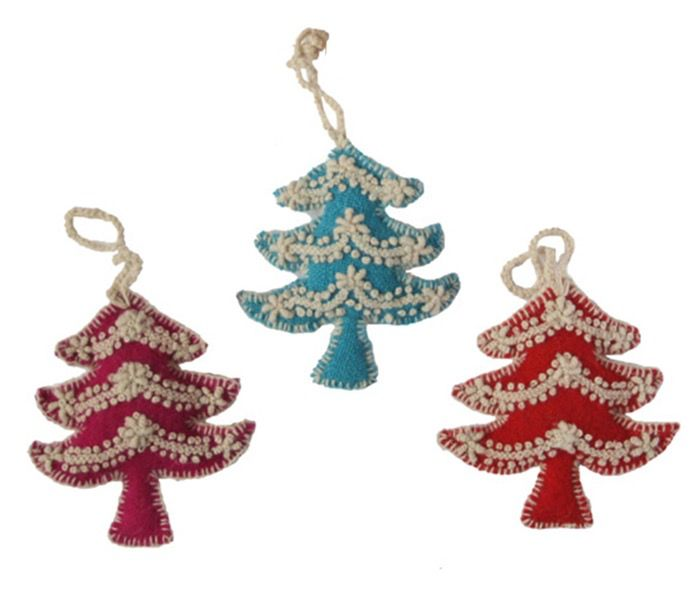 Rare Earth Gallery TREE (EMBROIDERED) ORNAMENT