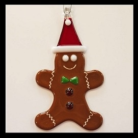 Rare Earth Gallery GINGERBREAD MAN ORNAMENT