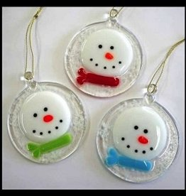 Rare Earth Gallery FROSTY IN A SNOWSTORM ORNAMENT
