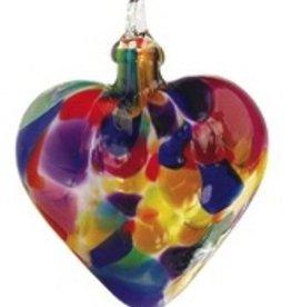 "Rare Earth Gallery HEART ORNAMENT (3""D.)"