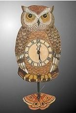 Rare Earth Gallery OWL (Pendulum Clock)