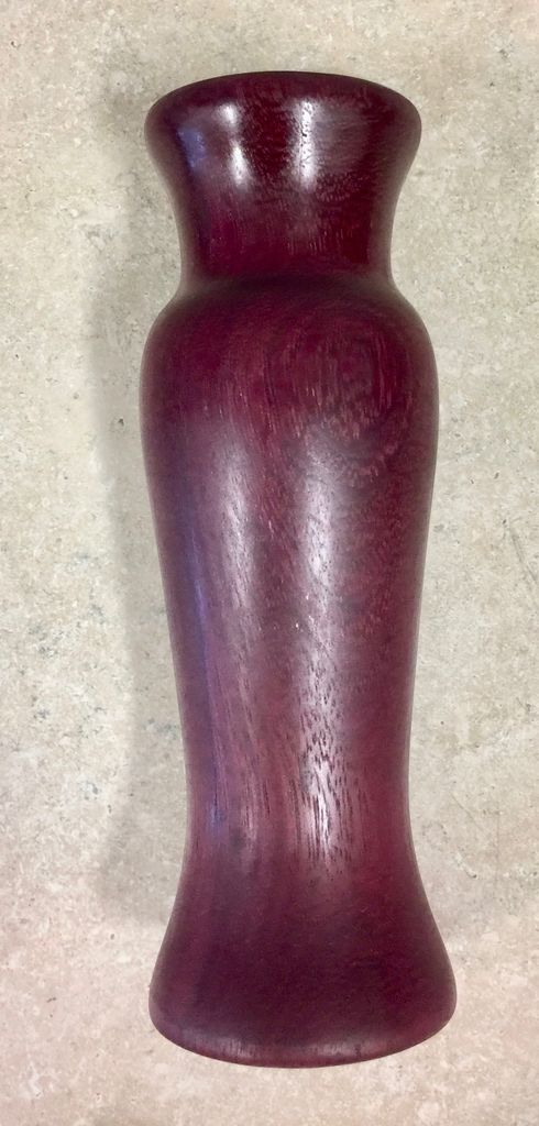 "David L. Jones Vase (Purple Heart, 9""H x 3""D.)"