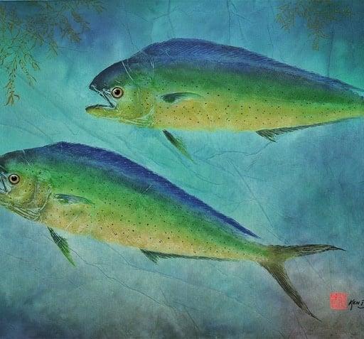 Ken Dara Fish Prints (Singles, Asstd., Gyotaku, 8x10 Frame)