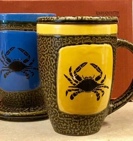 Rare Earth Gallery Crab Mug w/Lid