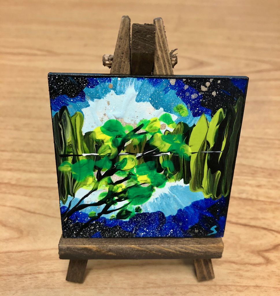 "Rare Earth Gallery MINIS! (Original Acrylic w/Easel, 3"" SQ)"