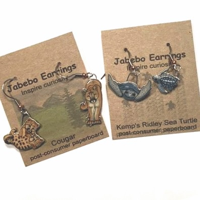 Rare Earth Gallery Earrings, Bumblebee, Rusty Patched