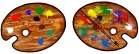 Rare Earth Gallery Earrings, Art Palette