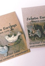Rare Earth Gallery Earrings, Cat, Napping