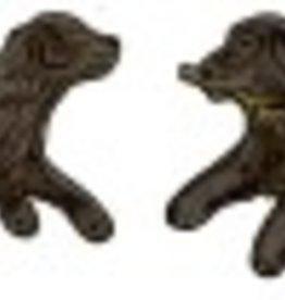 Rare Earth Gallery Earrings, Retriever, Black