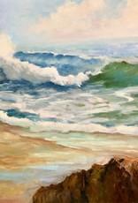 Carol Kepp Morning Sea (Original Oil, 18x24, Framed, Signed)