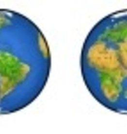 Rare Earth Gallery Earrings, Planet Earth