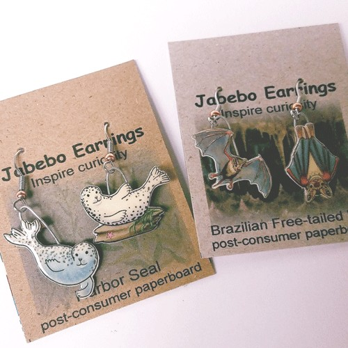 Rare Earth Gallery Earrings, Lady Bugs