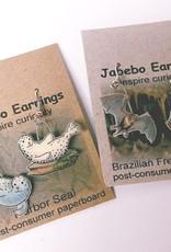 Rare Earth Gallery Earrings, Sandhill Crane