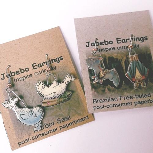 Rare Earth Gallery Earrings, Bunting, Painted