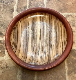 "David L. Jones Dish (Zebrawood & Bloodwood, 1""H x 9""D)"