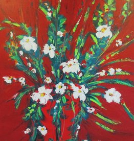 Lisa Jill Allison Splendid Red (Original Acrylic, Signed, 48x60)