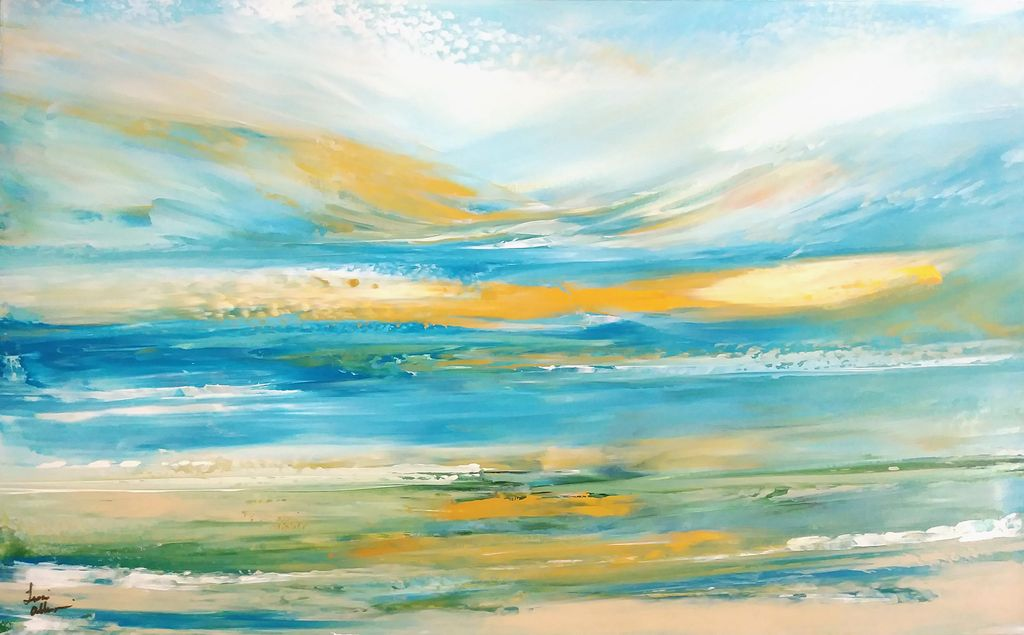 Lisa Jill Allison New Place Beachside (Original Acrylic, Signed, 48x30)