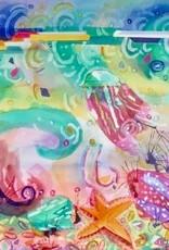 Underwater Fantasy Ii (Watercolor, Framed, 22x30