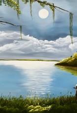 Cliff Potenza Moonlit Cove (Original Oil, 36x24)