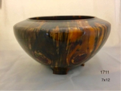 Joe Montagnino Bowl, w/Feet, Norfolk Island Pine (#1711)