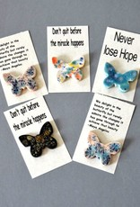 Rare Earth Gallery Ceramic Butterfly Magnet w/Sentiment Card